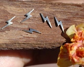 My MOST Tiny Lightening Bolt I Blank Cut Out for 24g Metalworking Soldering Stamping Texturing Blanks