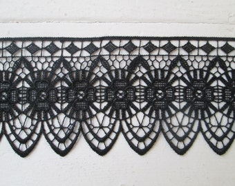 Black Venise Lace Trim, DIY Wedding, DIY Bride, Halloween DIY Costume, Garter, Bridal Pillow, Gothic Lace Necklace- Choker- Cuff- Jewelry
