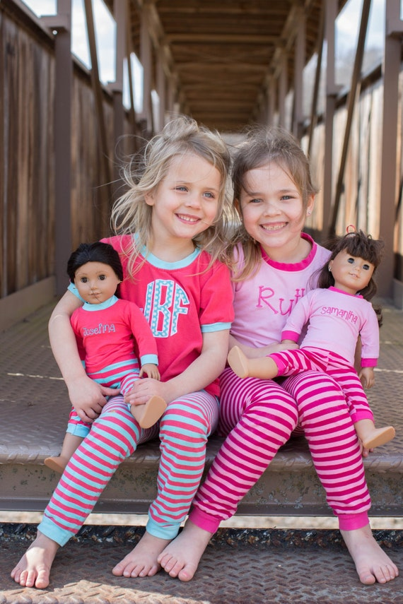 Girls Pajamas and Matching Doll Pajamas Set