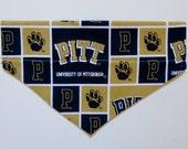 Small Pitt Dog Bandana, Slide on Bandana, Dog Scarf, Dog Bandana, Pet Accessory, Dog Collar, Bandana, Dog Lover, University of Pittsburgh