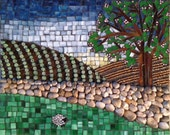 "Stained Glass Mosaic ""lone Sheep"""