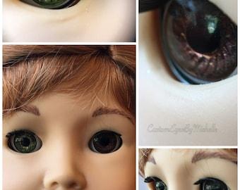 Custom American Girl Eyes Green-Brown Heterochromia