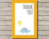 RAWRR Design THANKYOU Card, Instant Download Thank you Card, Dinosaur Bday, Jurassic Baby Shower, Dino Birthday, 6x4, Boy Invite