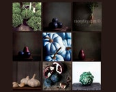 on Sale- Special Listing for Molly - Food Prints Rusitc Kitchen Decor Gallery Wall Art Food Photography Set of 9 Photos