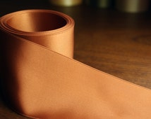 Luscious Double Faced Satin Ribbon Holiday Decorating Copper Horsechestnut