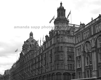 Harrods London photograph black and white