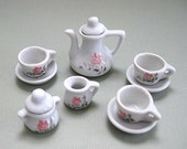 Dollhouse Kitchen Miniature Tea Set Doll House Kitchen Dollhouse Tea Set Doll Tea Set Doll House Tea Set China Tea Set Toy Tea Party Set