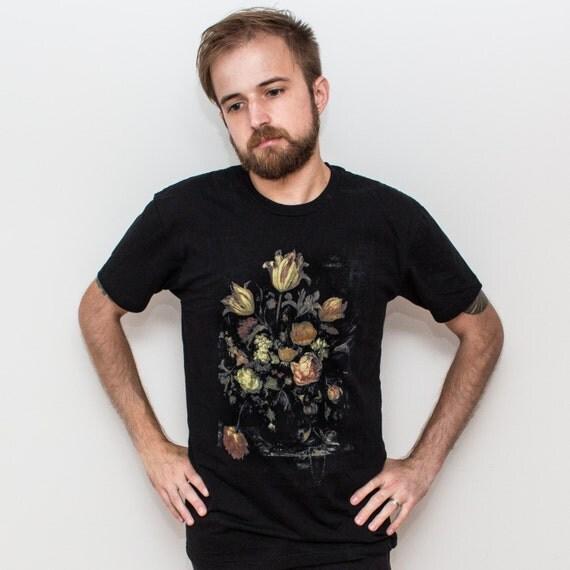 Vintage Flowers T-Shirt. Van Beijeren Still Life Tee.