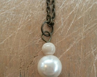 Minimalist Necklace, Simple Necklace, Pearl Necklace