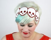 Halloween Skulls Headband, Glitter, Various Colours