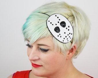 Halloween Hockey Mask Headband, Other Colours Available