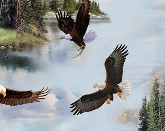 Majestic Bald Eagle ~ Coordinating Fabric from Elizabeth Studio