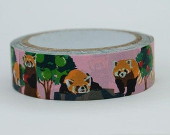 Red Panda washi tape numbers 15mm x 10M
