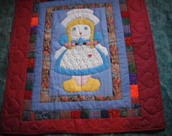little Dutch girl baby quilt