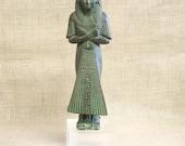 Egyptian Queen , Statue , Figure , Female Figure , Female Portrait , Egyptian Goddess , Nefertiti , Ancient Egypt , Statuary , Verdis Gris