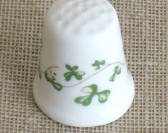 Royal Tara, Thimble, Ceramic, Ireland, Shamrock, Sewing Aids, Irish, Sewing Tools, Sewing Items,Thimbles,Sewing Thimbles,Ceramic,Collectible