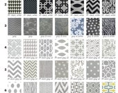 Fabric Swatches for makeup bags and wedding clutches