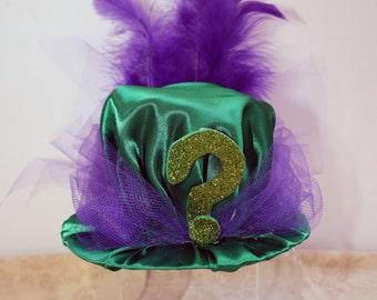 Steampunk Mini Hat Fascinator- Riddler