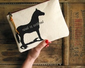Raised on Cornbread Clutch Southern Horse Accessories Zipper Pouch Purse Nashville Country Hillbilly Redneck Gift for Her
