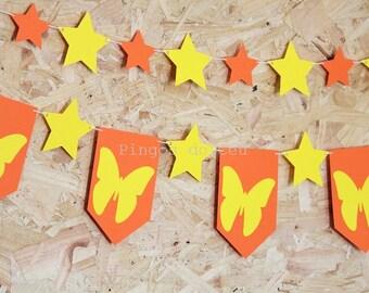 Butterfly Banner - Summer Party Banner - Photo Prop Decor - Nursery Decor - Custom Banner