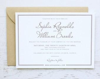 Sophia Custom Wedding Invitation