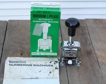 Vintage Numbering Machine Stamp