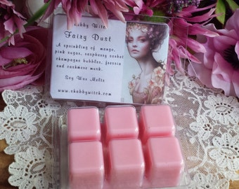Fairy Dust Tarts, Spring Candle, Ostara Candles, Midsummer fairy, Soy Melts, Soy Tarts, Wax Melts