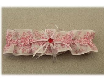 Pink Paisley Wedding Garter