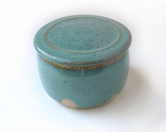 Speckled Green Lidded Box