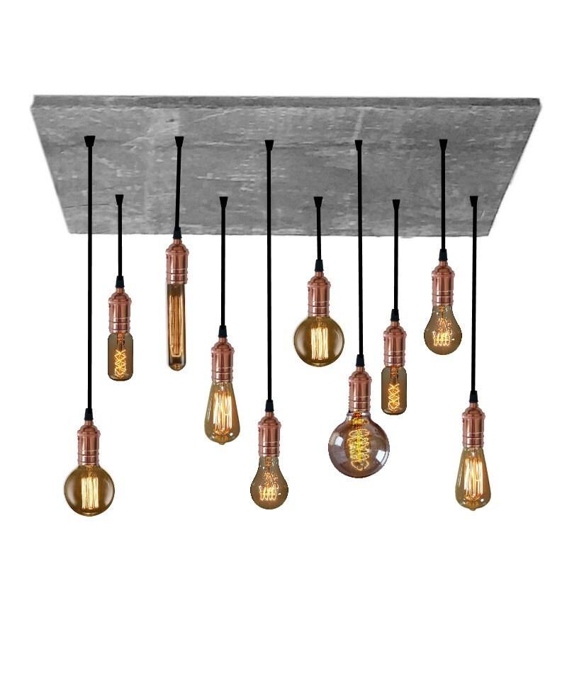 Pendant light reclaimed wood chandelier grey by for Wood chandelier lighting