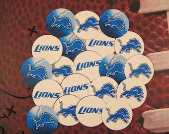 """50 Pre-cut 1"""" round Lions Bottlecap images Scrapbooking/Bows"""