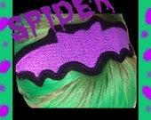 Bat Headband  Spooky Bat Halloween Creepy Cute You Pick the color Batty Bats