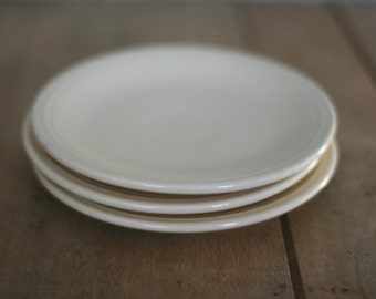 vintage fiesta bread and butter plates ivory ceramic