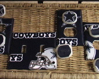 Dallas Cowboys Light Switch Plates Outlet Covers or Knobs