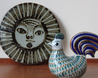 Vintage Tonala Mexico Pottery, Sun Wall Plaque Possibly by Ken Edward