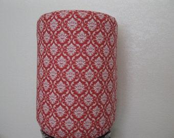 White Damask Dispenser Cover-Red and White Damask