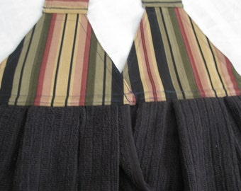 Kitchen Towels,Bath Hand Towels,Kitchen hand Towels, Black and Stripes Hand towels