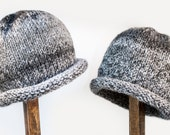 Child Adult Hat Rolled Brim Beanie Size SMALL 1 to 6 months Color No. 11 CHARCOAL