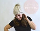BLACK FRIDAY SALE Instant Download Knitting Pattern - Womens Hat Pattern - Knit Hat Pattern - Cable Hat Pattern - Pom Pom Hat Pattern