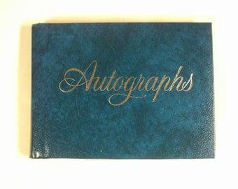 Vintage 1960's Autograph Book  Unused