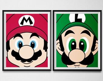 Nintendo Wall Art super mario world | etsy