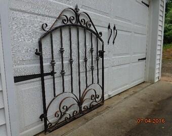 victorian iron scroll garden gate