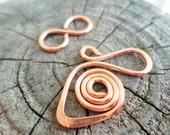 Small Swan Clasp in Copper, Oxidized Copper, NuGold or Sterling Silver