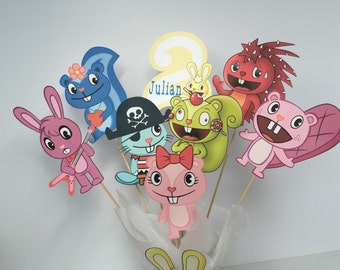 Happy Tree Friends Personalized Centerpiece/ with age and name of your choice