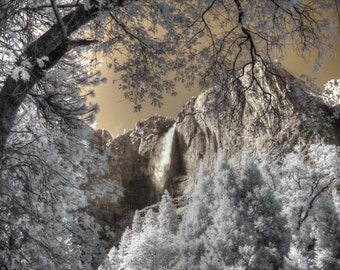 Yosemite Falls National Park infrared photography