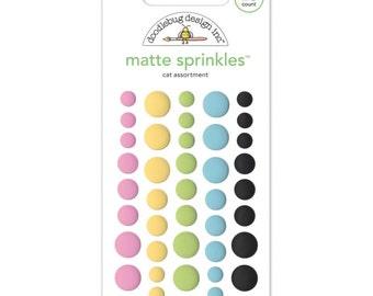 Doodlebug KITTEN SMITTEN Matte Sprinkles Dots Embellishments