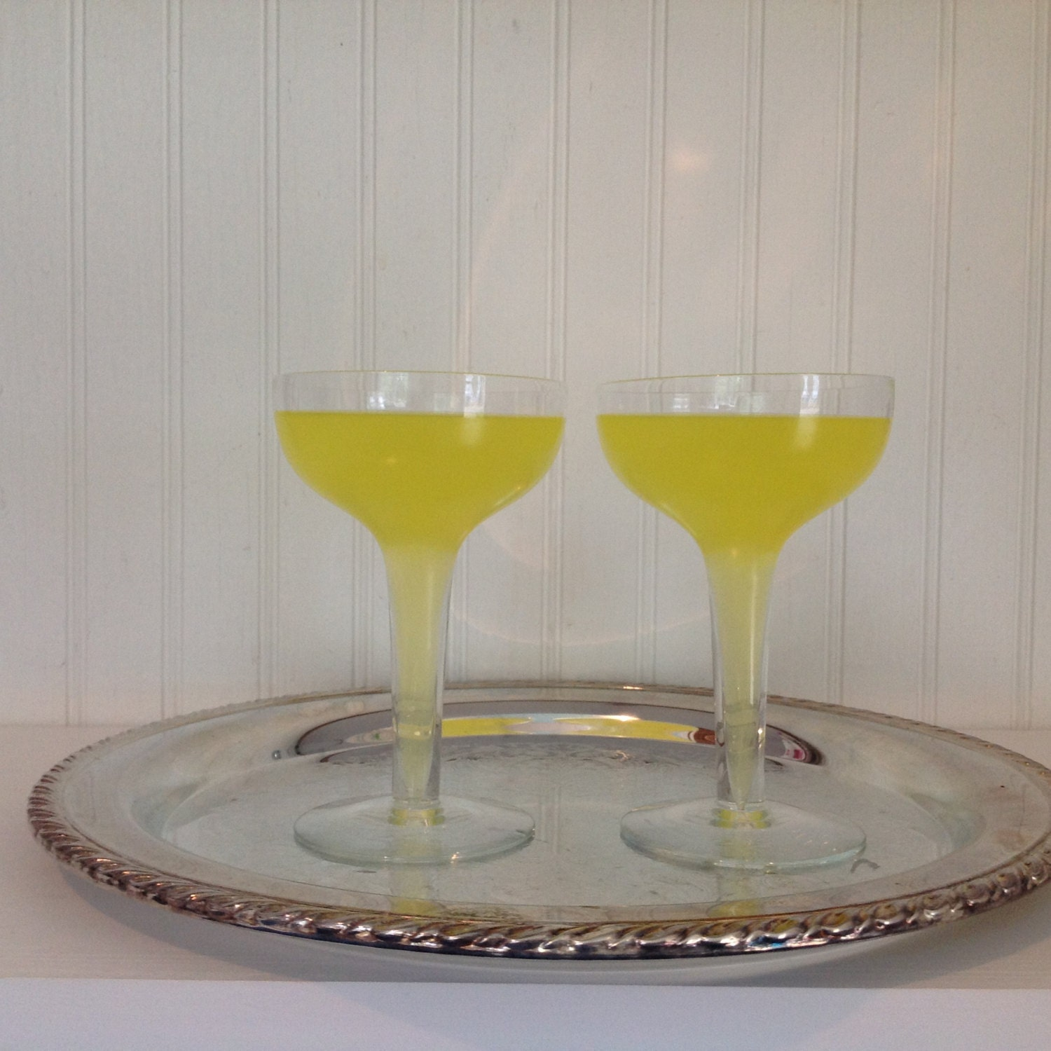 Vintage hollow stem champagne glasses by southernprettys on etsy - Champagne flutes hollow stem ...