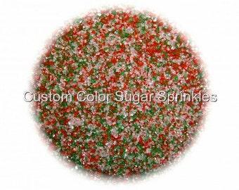 CHRISTMAS SANDING SUGAR  Edible Sprinkles Cake, Cakepops, Cookie Decorations Confetti