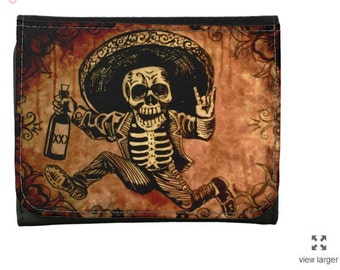 Day of the Dead Posada style Wallet