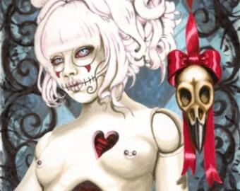 Sugar Skull Doll Stretched canvas print